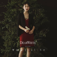 """Dress / evening wear Wedding, adulthood, party, company annual meeting, performance, routine, appointment S,M,L """"The fragrance of Fei color · Chapter 16"""" in stock, pre-sale, delivery on May 25 grace Middle-skirt middle-waisted Summer of 2019 Self cultivation Sling type velvet 18-25 years old"""