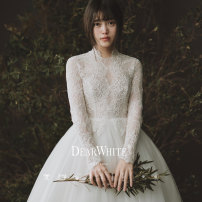 """Wedding dress Summer of 2019 Spot """"Xiangfeng"""", pre-sale May 12 delivery, pre-sale """"45 days delivery"""" S/165,S/170,S/175,M/165,M/170,M/175,L/165,L/170,L/175 grace Small tail Bandage Hotel Interior other Lace Three dimensional cutting middle-waisted 25-35 years old Dearwhite / Dear white 96% and above"""