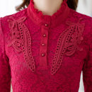 Lace / Chiffon Spring 2021 S,M,L,XL,2XL,3XL,4XL,5XL Long sleeves commute Socket singleton  Self cultivation Regular High collar Solid color routine 35-39 years old Other / other lady 71% (inclusive) - 80% (inclusive)