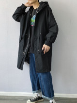 Windbreaker Military green thin military green cotton clip black thin black cotton clip UAEA Youth fashion S M L XL zipper Medium length easy Other leisure winter teenagers Hood (not detachable) tide Cotton 100% Solid color No iron treatment Side seam pocket Multiple pockets cotton Autumn 2020