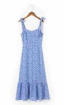 Dress Summer 2021 As shown in the figure S,M,L Mid length dress street High waist 18-24 years old 81% (inclusive) - 90% (inclusive) Europe and America