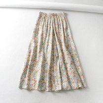 skirt Summer 2020 XS,S,M,L As shown in the figure Mid length dress street High waist 18-24 years old 81% (inclusive) - 90% (inclusive) Europe and America