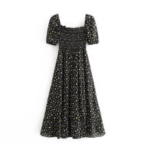 Dress Summer 2020 As shown in the figure S,M,L Mid length dress street square neck 18-24 years old 81% (inclusive) - 90% (inclusive) Europe and America