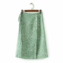 skirt Summer of 2018 S,M,L As shown in the figure Middle-skirt street High waist 18-24 years old 81% (inclusive) - 90% (inclusive) Europe and America