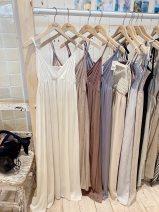 Dress Spring 2021 Wht white, beg beige, BRW brown, Blu blue F singleton  flower More than 95% other
