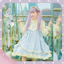 Lolita / soft girl / dress Lolita, can of cat Baby baby blue solid Average size Unlimited season, winter, summer, spring, spring and autumn goods in stock Lolita, soft girl