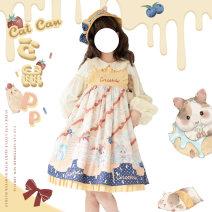 Lolita / soft girl / dress Cat can Lolita Full yellow L,M,S Unlimited season, winter, summer, spring, spring and autumn Pre sale Lolita, soft girl