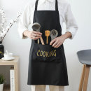 apron Gold on black, gold on green, gold on coffee Sleeveless apron antifouling Simplicity other Household cleaning VD6719 Sojia public no Solid color