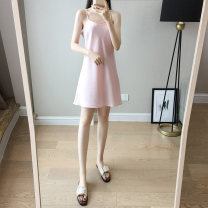 Dress Summer of 2019 S M L XL XXL 3XL 4XL 5XL 6XL Middle-skirt singleton  Sleeveless commute Loose waist Solid color Socket A-line skirt camisole 30-34 years old Type A Hot Princess Korean version 71% (inclusive) - 80% (inclusive) polyester fiber