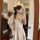 Dress Summer 2021 Apricot suspender skirt piece, white suspender skirt piece, purple shirt piece, orange shirt piece Average size longuette singleton  Sleeveless commute V-neck High waist Solid color Socket A-line skirt other camisole 18-24 years old Type A Korean version