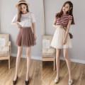skirt Summer 2020 S,M,L,XL Short skirt Versatile High waist Fluffy skirt Type A 18-24 years old