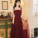 Dress Summer 2020 claret S,M,L longuette Sleeveless