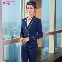 Professional dress suit S M L XL 2XL 3XL 4XL 5XL Spring 2021 Long sleeves 111YJF8737S02XH Shirt coat other styles Suit skirt 25-35 years old Ice cloud Polyester 97.9% polyurethane elastic fiber (spandex) 2.1% Exclusive payment of tmall