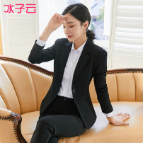 suit Winter 2020 S M L XL 2XL 3XL 4XL 5XL Long sleeves routine Self cultivation tailored collar A button routine BZY_ 1045_ nine thousand nine hundred and two 25-29 years old 96% and above polyester fiber Ice cloud Polyester 96.1% polyurethane elastic fiber (spandex) 3.9%