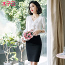 Professional dress suit S M L XL XXL XXXL Summer of 2019 elbow sleeve 122YJE0565S05 Other styles of shirts Suit skirt 25-35 years old Ice cloud Polyester 100% Pure e-commerce (online only) 96% and above polyester fiber