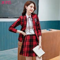 student uniforms Winter 2020 White (single short sleeve shirt) white (short sleeve shirt) + Skirt) red (single suit coat) red (suit coat) + Skirt) red (suit coat) + shirt + Skirt) S M L XL XXL XXXL XXXXL Long sleeves Korean version skirt 18-25 years old Ice cloud other BZY - KL2186