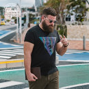 T-shirt Fashion City black routine 2XL 3XL 1XL 4XL 5XL 6XL Gleason Short sleeve Crew neck easy Other leisure summer Cotton 100% Large size routine Summer of 2019 Geometric pattern Pure e-commerce (online only)
