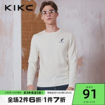 T-shirt / sweater kikc Youth fashion white 165/S 170/M 175/L 180/XL 185/XXL routine Socket Crew neck Long sleeves 12B060034. autumn Slim fit 2019 Polyacrylonitrile fiber (acrylic fiber) 42.7% polyester fiber 33.2% polyamide fiber (nylon fiber) 20.2% wool 3.9% Shopping tide youth routine Winter 2020
