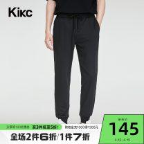 Casual pants kikc Fashion City black 28 29 30 31 32 33 34 36 trousers Other leisure Straight cylinder High shot A2E450401 2020 Polyester fiber 79.1% polyurethane elastic fiber (spandex) 20.9% Autumn 2020