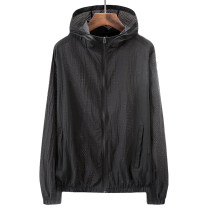 Jacket Fat inversion Fashion City Black, light gray, sky blue 4XL (160-180 kg), 5XL (190-200 kg), 6xl (210-230 kg), 7XL (240-250 kg), 8xl (260-270 kg), 9xl (270-300 kg) thin Extra wide Travel? summer Large mesh sunscreen Long sleeves Wear out Hood like a breath of fresh air Large size routine 2019