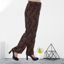 Middle aged and old women's wear Spring 2020 Peony, Pisces L,XL,XXL,XXXL noble trousers easy singleton  Decor Over 60 years old moderate routine 03091--0725 Ancient Silk Road Button silk 31% (inclusive) - 50% (inclusive) trousers