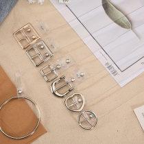 Belt / belt / chain plastic cement female belt Versatile Single loop Children, youth, middle age Pin buckle Geometric pattern Glossy surface 3.2cm alloy alone Benavir BN07 Autumn and winter 2017