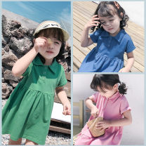Dress Blue, green, pink female Other / other 7(90cm),9(100cm),11(110cm),13(120cm),15(130cm) Other 100% summer Korean version Short sleeve other other F6581 2 years old, 3 years old, 4 years old, 5 years old, 6 years old Chinese Mainland