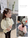 T-shirt Beige, pink Other / other 7(90cm),9(100cm),11(110cm),13(120cm),15(130cm) female spring and autumn Long sleeves Crew neck Korean version nothing other Solid color 2 years old, 3 years old, 4 years old, 5 years old, 6 years old