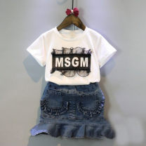 T-shirt Picture color Other / other 7, 9, 11, 13, 15, mom, one size female summer Short sleeve Crew neck nothing cotton letter F0016 other 2 years old, 3 years old, 4 years old, 5 years old, 6 years old