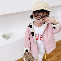 Windbreaker Yellow, pink 7(90cm),9(100cm),11(110cm),13(120cm),15(130cm) Other / other neutral spring and autumn leisure time No detachable cap F5748
