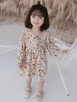Dress Apricot female Other / other 7(90cm),9(100cm),11(110cm),13(120cm),15(130cm) Other 100% summer Korean version Short sleeve Broken flowers other other 2 years old, 3 years old, 4 years old, 5 years old, 6 years old Chinese Mainland