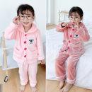 Home suit Other / other 7(100cm),9(110cm),11(120cm),13(130cm),15(140cm) Light pink winter female 2 years old, 3 years old, 4 years old, 5 years old, 6 years old Home other F6068