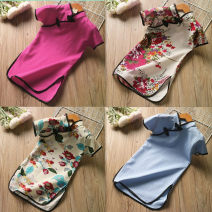 Dress Rose, light blue, safflower, blue female Other / other 7(90cm),9(100cm),11(110cm),13(115cm),15(125cm) Other 100% summer Korean version Short sleeve Broken flowers blending other F1405 other 2 years old, 3 years old, 4 years old, 5 years old, 6 years old