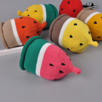 Hat Average size Red + gray yellow + coffee watermelon red + green orange + light coffee 1-6 years old Bell shaped Other / other Short eaves F8311