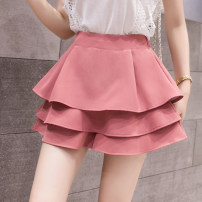 skirt Summer 2021 S,M,L,XL,2XL White, black, pink, apricot Short skirt commute High waist Cake skirt 18-24 years old 51% (inclusive) - 70% (inclusive) Korean version