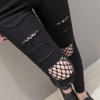 Leggings Summer 2021 black S,M,L,XL,2XL Thin money trousers 18-24 years old 71% (inclusive) - 80% (inclusive)