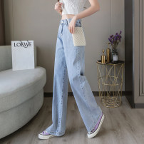 Casual pants Picture color S,M,L,XL,2XL Summer 2021 trousers Wide leg pants High waist commute Thin money 18-24 years old 81% (inclusive) - 90% (inclusive) ///YJ7410 Korean version