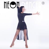 Latin dance practice set black Wuhan nishang Dance Dress female S,M,L