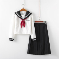 student uniforms Summer 2020, spring 2020, winter 2020, autumn 2020 S,M,L,XL,XXL Long sleeves solar system skirt 18-25 years old Huachuan silk
