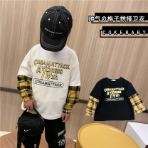 Sweater / sweater Other / other Plaid sleeve guards black spot, plaid sleeve guards white spot, plaid sleeve guards black pre-sale, plaid sleeve guards white pre-sale neutral 90cm,100cm,110cm,120cm,130cm,140cm,150cm spring and autumn nothing leisure time Socket routine cotton Cartoon animation