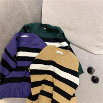 Sweater / sweater 90cm,100cm,110cm,120cm,130cm,140cm other neutral Other / other stripe 7 years old, 12 months old, 3 years old, 6 years old, 18 months old, 2 years old, 5 years old, 4 years old Chinese Mainland