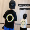 T-shirt Round t black spot , Round t white spot , Round t black pre-sale , Round t white pre-sale Other / other 90cm,100cm,110cm,120cm,130cm,140cm,150cm neutral summer cotton Cartoon animation 2 years old , 7 years old , 12 months , 3 years old , 5 years old , 6 years old , 18 months , 4 years old