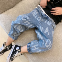 trousers Other / other neutral 90cm,100cm,110cm,120cm,130cm,140cm,150cm Blue print jeans in stock, blue print jeans pre-sale spring and autumn trousers Korean version Jeans zipper Don't open the crotch Class B trousers Chinese Mainland