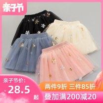 skirt 110, 120, 130, 140, 150, 160 Pink Black Beige grey Mabeka female Polyamide fiber (nylon) 100% summer Miniskirt Korean version other other FD11a10 Class B Spring of 2019