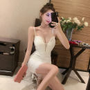 Dress Summer 2021 White, black Average size Short skirt Fake two pieces Short sleeve commute other middle-waisted Solid color Socket A-line skirt routine Others 18-24 years old Other / other Korean version Bowknot, stitching 71% (inclusive) - 80% (inclusive) Lace