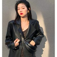 Fashion suit Spring 2021 S. M, l, average size Leopard Dress with suspenders, leather jacket 18-25 years old chuu #22853 51% (inclusive) - 70% (inclusive)