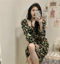 Dress Summer 2021 Picture color S, M Mid length dress singleton  Long sleeves commute High waist Decor Socket other other 18-24 years old Type H Korean version 6234# 51% (inclusive) - 70% (inclusive) Chiffon
