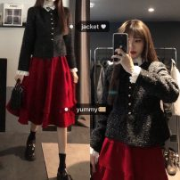 Fashion suit Winter 2020 Average size Cotton jacket and Christmas red skirt 18-25 years old 51% (inclusive) - 70% (inclusive) cotton