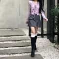 Fashion suit Spring 2021 Average size Grey skirt s, grey skirt m, pink purple two piece set 18-25 years old 3271# 51% (inclusive) - 70% (inclusive) cotton