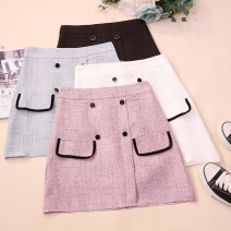skirt Summer 2020 S,M,L,XL White, black, blue, purple and pink Short skirt commute High waist A-line skirt Solid color Type A 18-24 years old CSNRG0235 51% (inclusive) - 70% (inclusive) other Korean version
